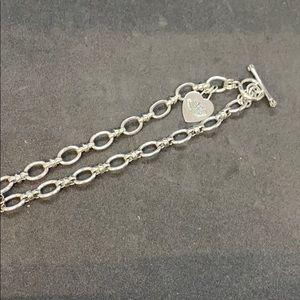 Juicy couture silvertone necklace